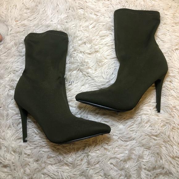 Shoes - Olive Heel Booties